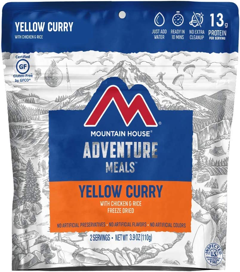 Mountain House Yellow Curry with Chicken & Rice | Freeze Dried Backpacking & Camping Food | Gluten-Free