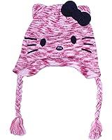 Girls Hello Kitty Winter Beanie Hat Tassels Hello Kitty Jewel Eyes Nose Design Age 8-12 Years