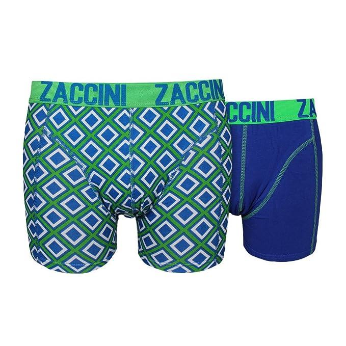 Zaccini Hombres Ropa interior / Moda de baño / Shorts boxeros Ocean Square: Amazon.es: Ropa y accesorios