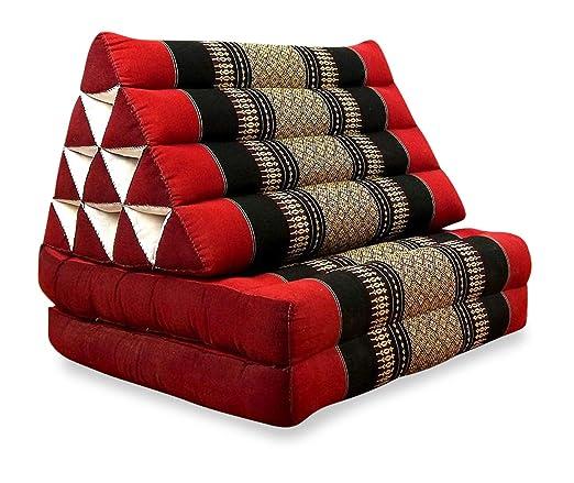 Asia Wohnstudio 3 Fold con Extra Grande triángulo cojín, 100 ...