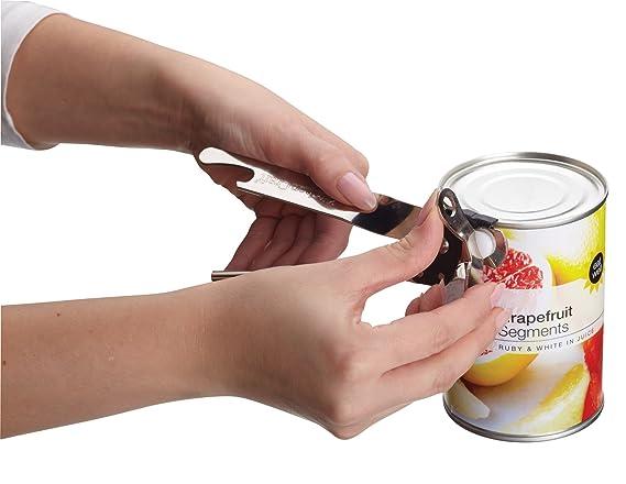 Compra Kitchen Craft - Abrelatas de Metal Tradicional (17, 5 cm, Acero, Plata, 17, 5 x 3, 5 x 2 cm), diseño de Mariposas en Amazon.es