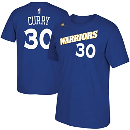 the latest 51b41 e4510 adidas Stephen Curry Golden State Warriors Blue Alternate Retro Jersey Name  and Number T-Shirt