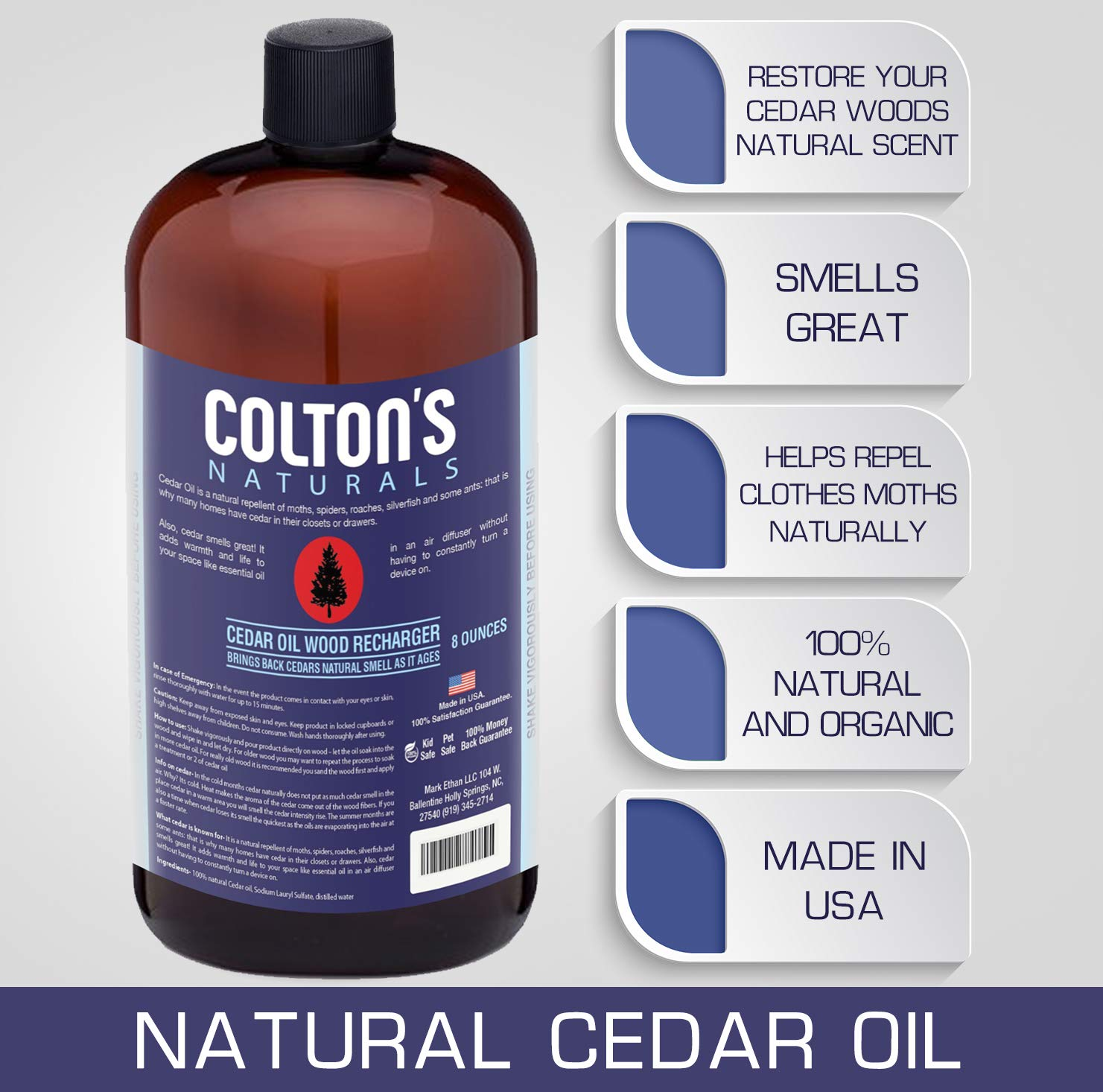 Colton's Naturals Cedar Oil Lavender Wood Replenish & Restore Original Cedar Scent (8 Ounces) by Colton's Naturals