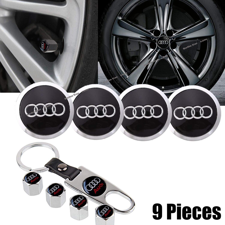 TOMALL Hexagon Valve Caps Aluminum Black for Auto Car Wheel Dust Cover