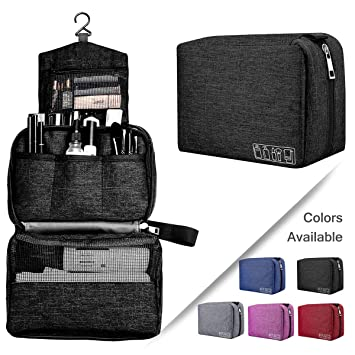 2f711f7d1f32 Hanging Toiletry Bag, Ceephouge Portable Travel Toiletry Organizer Kit with  Hook and Handle...