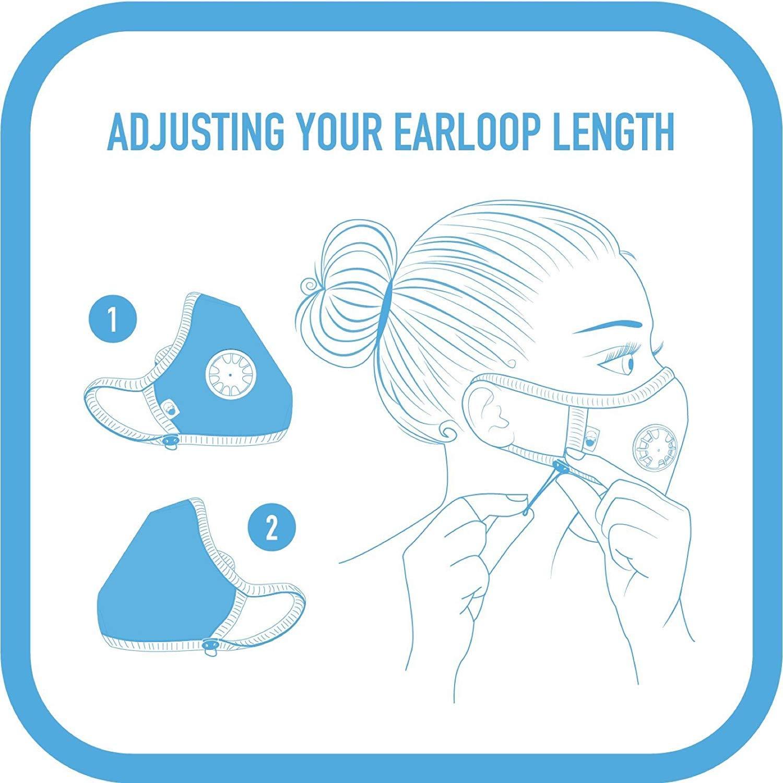 Cambridge Mask Co Pro Anti Pollution N99 Washable Military Grade Respirator with Adjustable Straps - Duke M Pro by Cambridge Mask Co (Image #7)