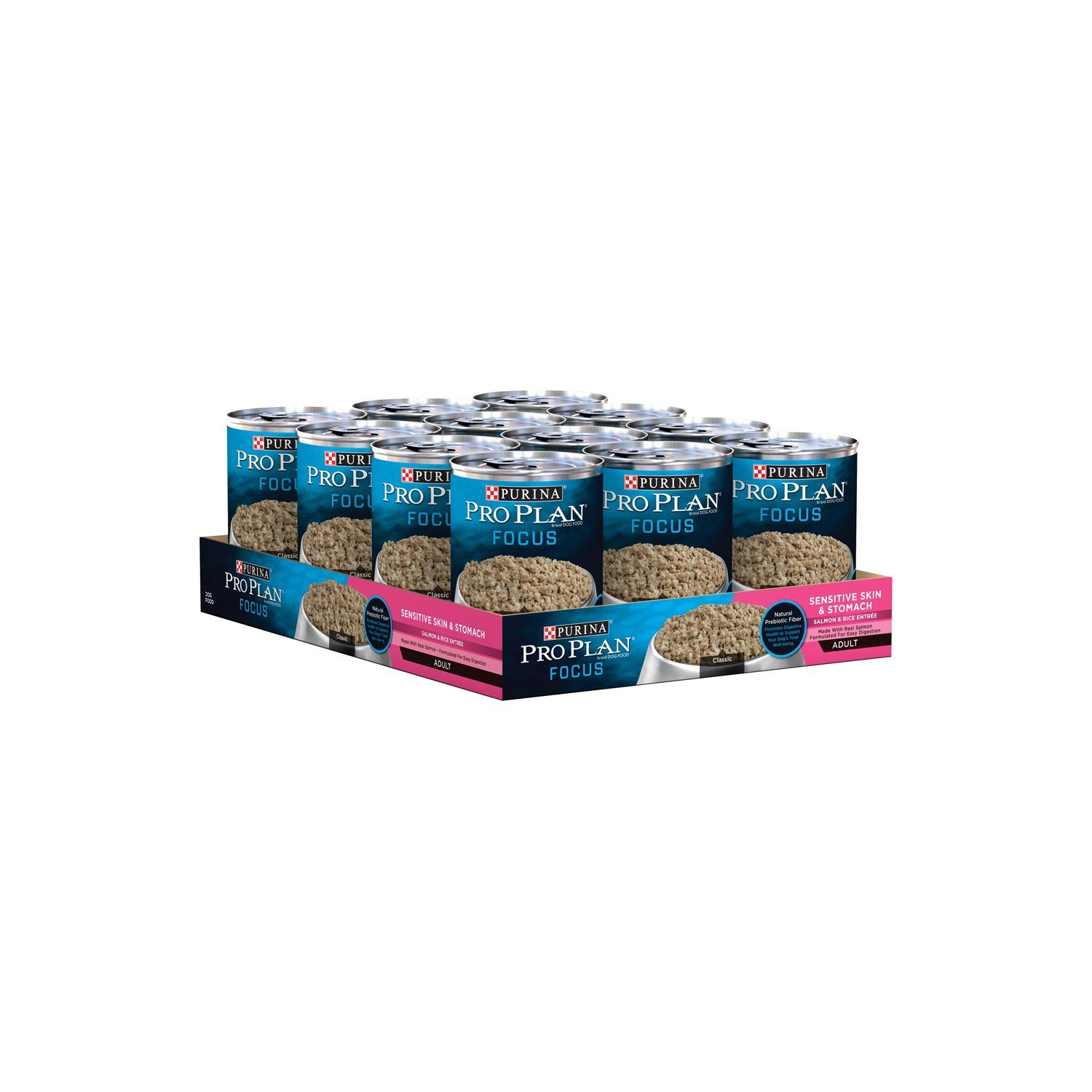 Purina Pro Plan (3810002766) Focus Sensitive Skin & Stomach Salmon & Rice Entre Classic Wet Dog Food - 12-13 oz. Cans by Purina Pro Plan (Image #3)