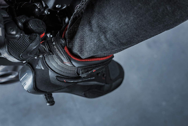 Noir, 43 Chaussures d/ét/é pour motards en maille a/ér/ée avec syst/ème de fixation ATOP SHIMA EXO MEN BLACK