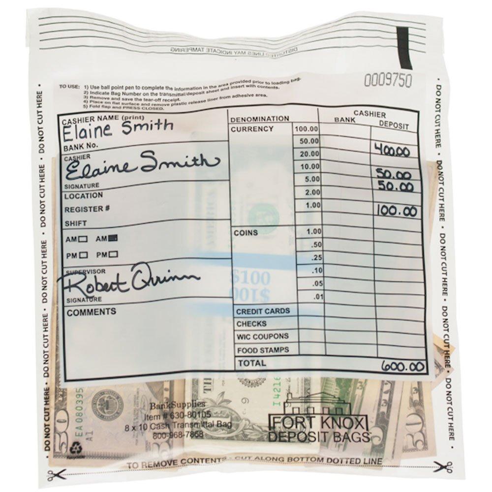Cash Transmittal Bag - 5 x 9 - Case of 1000 Bags BankSupplies Inc.