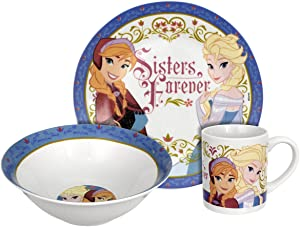 Rsquared Disney Frozen Sisters Forever Dinnerware Set, Multicolor