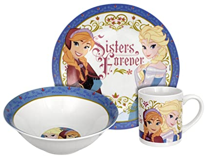 Disney Frozen Sisters Forever Dinnerware Set 3-Piece  sc 1 st  Amazon.com & Amazon.com: Disney Frozen Sisters Forever Dinnerware Set 3-Piece ...