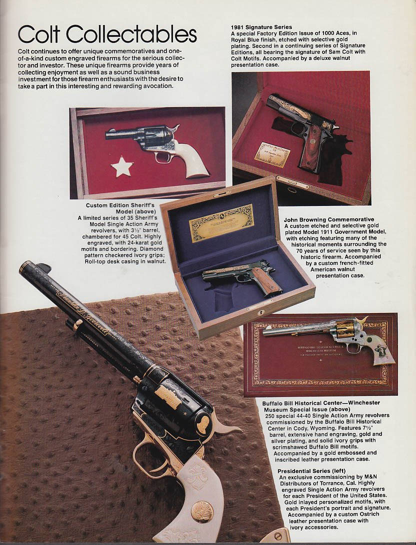 Colt Firearms catalog 1982 pistol AR-15 Sauer Drilling