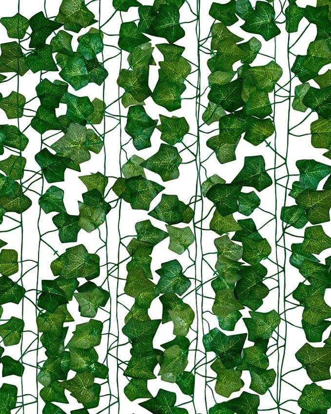 Lokipa Guirlande de No/ël verte pour d/écoration de No/ël 15,5 m