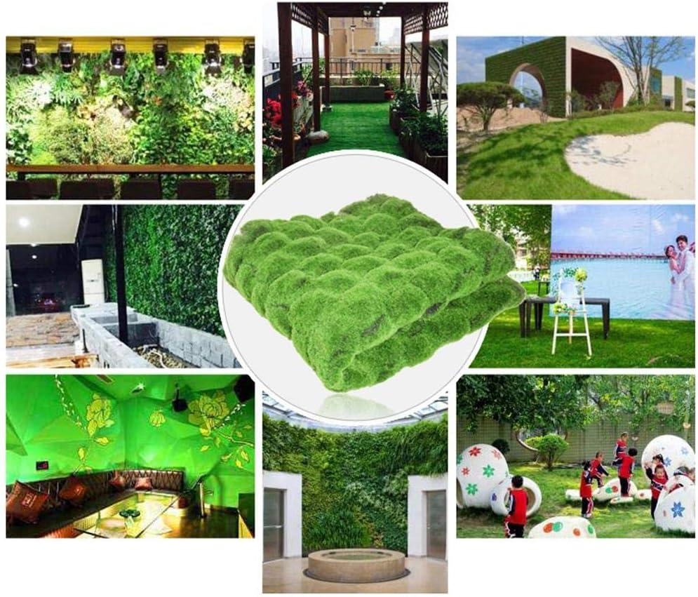 Garden Moss Grass Lawn Turf Carpet Nicemeet 1M /× 1M Green Artificial Lawn Carpet Outdoor Turf Rug Realistic Artificial Grass Mat