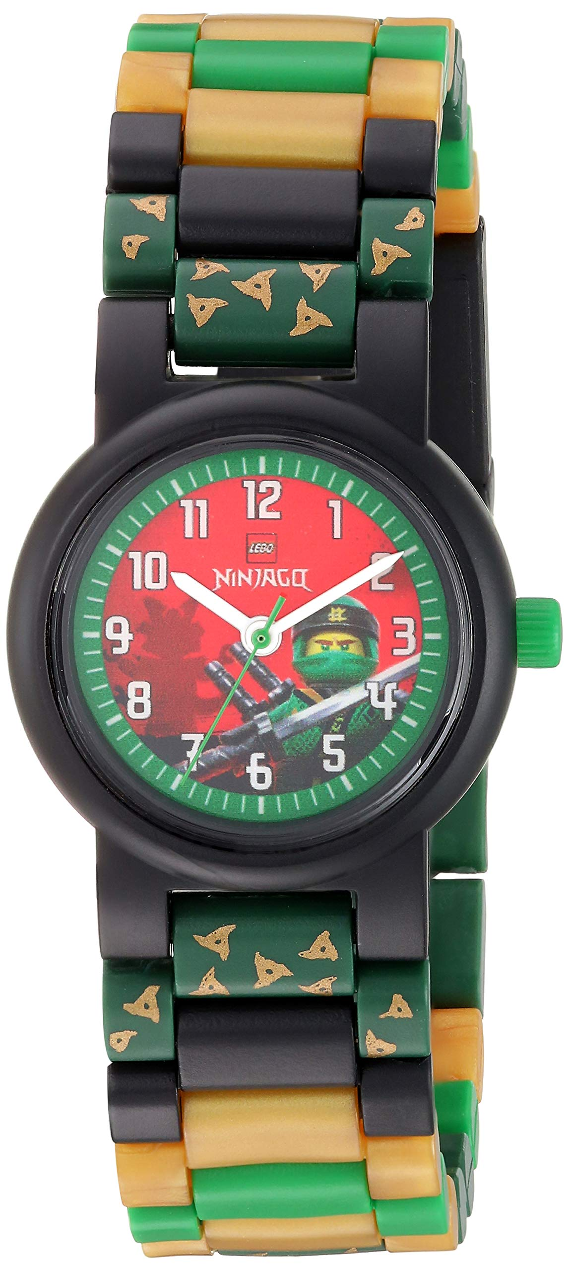 LEGO Watches and Clocks Boy's 'Ninjago Lloyd' Quartz Plastic Casual watch,  Color:Green (Model: 8021421) by ClicTime