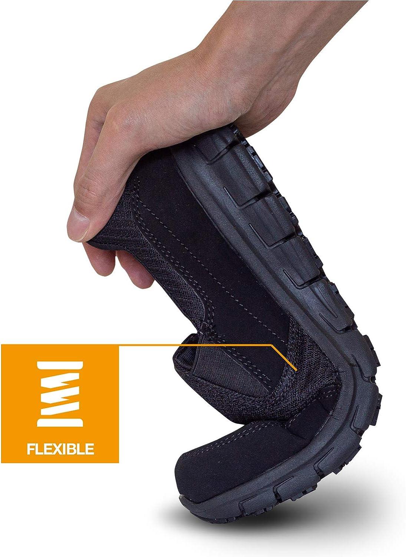 EVER BOOTS Mens Slip Resistant Work Shoe Comfort Slip On Lightweight Flexible