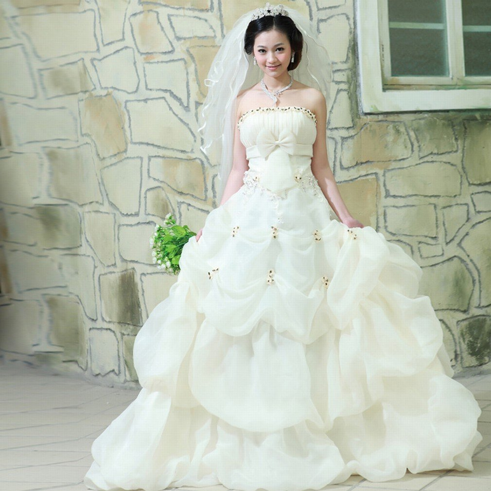 HUN Moderne Braut Brautkleid Bemalte Brust Prinzessin Absatz Sü?e ...