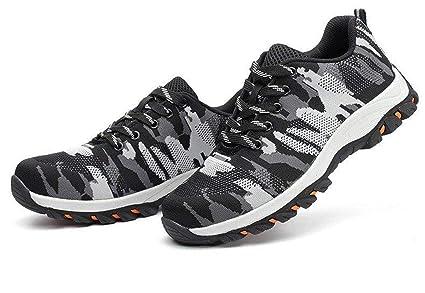 416b35cbee452 Women's Men's Steel Toe Slip Resistant Safety Shoes Lightweight Industrial  & Construction Shoe Breathable Puncture Proof Inside Sole Sneaker