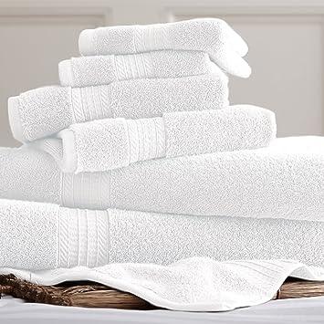 Lujo Spa 100% algodón colección juego de 6 juego de toallas | incluye - 2 Paños, 2 toallas de baño y 2 toallas de mano: Amazon.es: Hogar