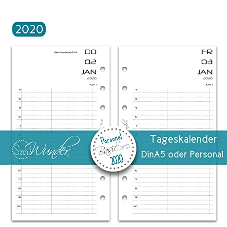 SinnWunder® 2020 Premium Calendario Plantillas - Agenda ...