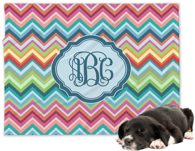 d62591ff7fff Amazon.com: RNK Shops Retro Chevron Monogram Minky Dog Blanket - Regular  (Personalized): Home & Kitchen