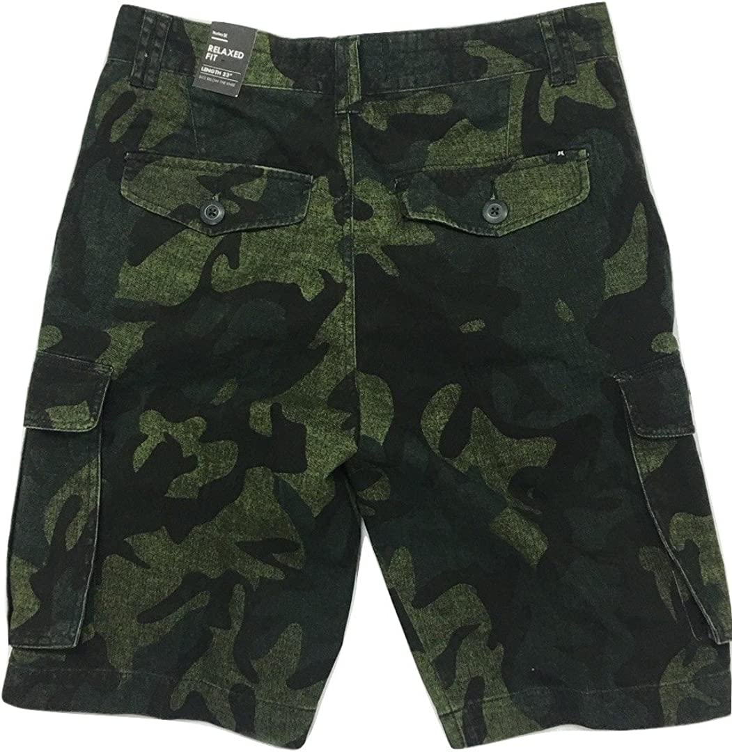 "Hurley Men/'s Mayhem Relaxed Fit 23/"" Cargo Shorts"