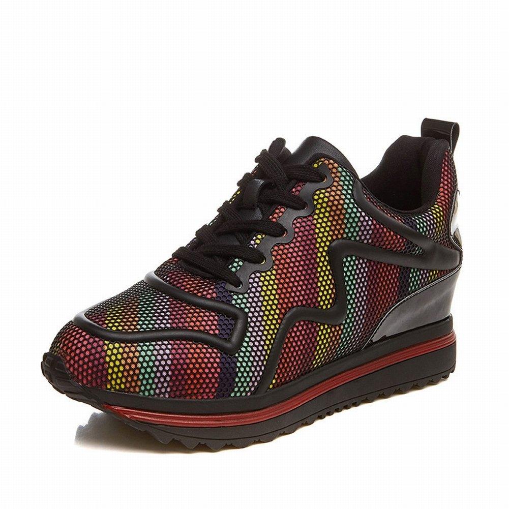Fashion All-Match-Freizeitschuhe, um die Bequemen Atmungsaktive Schuhe Rutschfeste Schuhe zu Erhöhen , rot , 36,5 EUR
