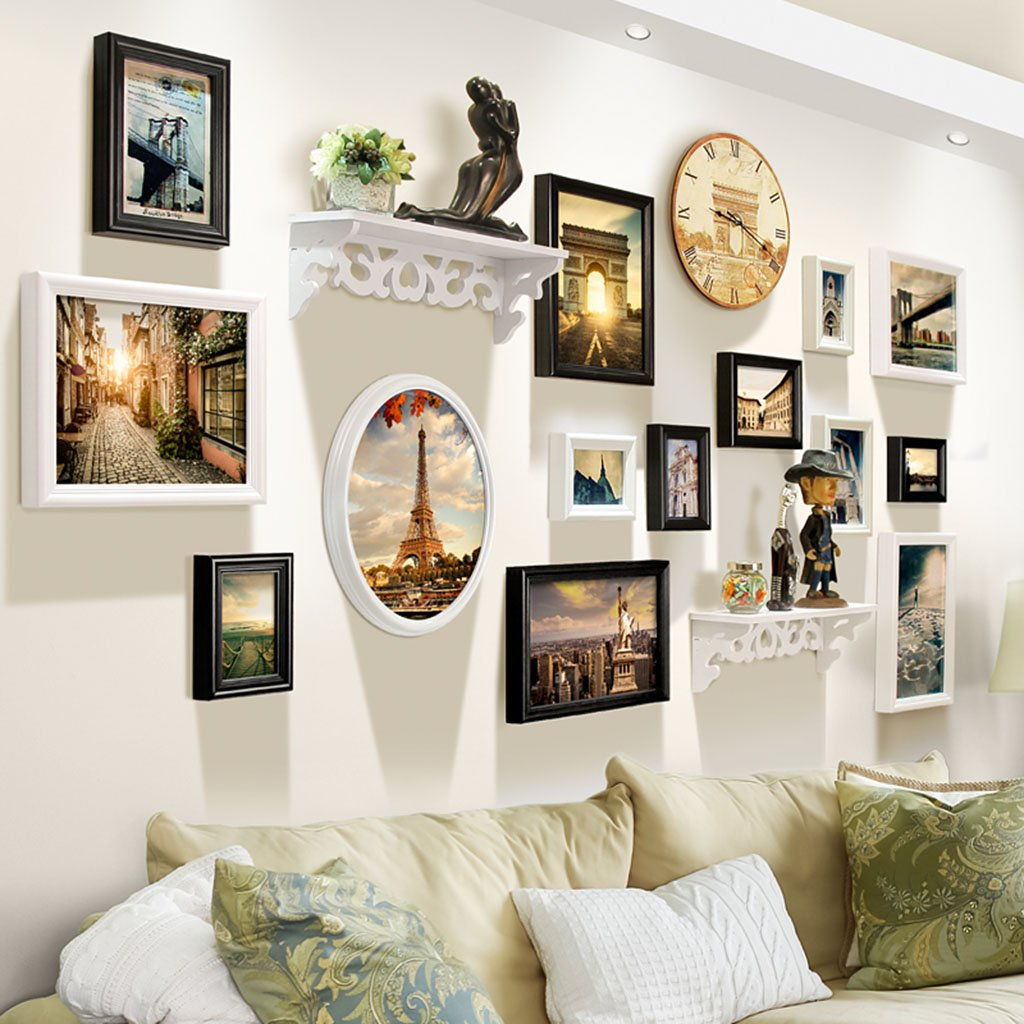 Home@Wall photo frame Photo Frame Wall Sets Of 14, Living Room Combination Bedroom Photo Frame Creative Frame Wall Combination Suspension Child Photo Wall Decorative Paintings Set ( Color : A )
