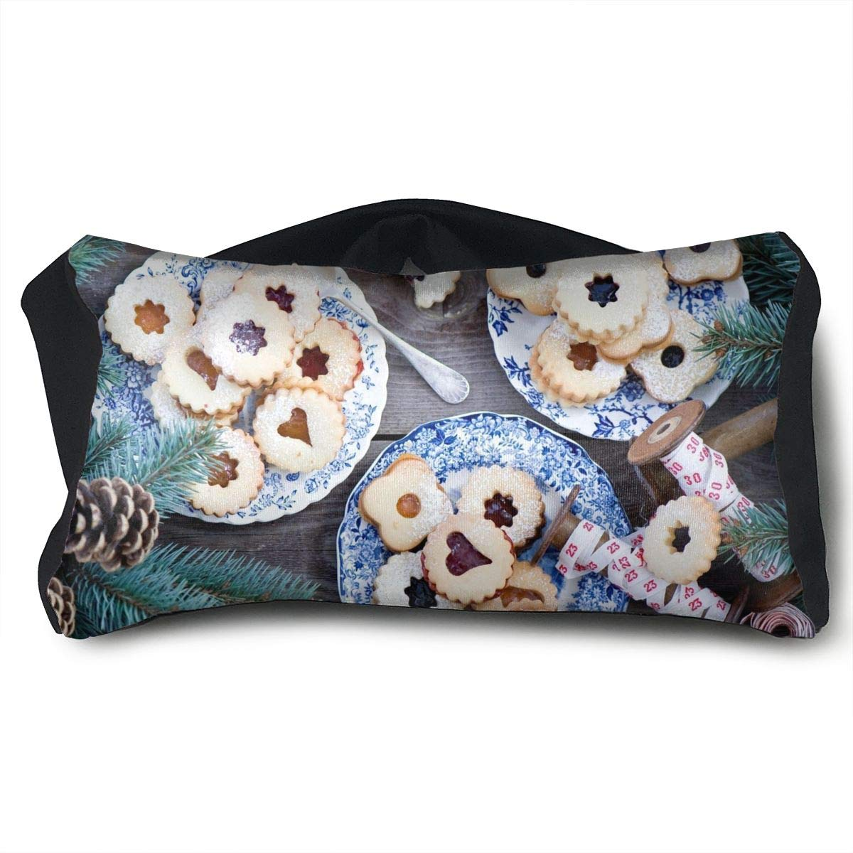 Eye Pillow Sleep Mask for Sleeping Migraine Headaches Stress Relief Biscuits Branches Eyeshade