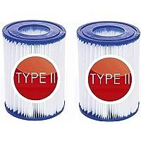 NJYBF Cartuchos de filtro para piscina, para Bestway II Filtro Tamaño 2, Tipo 2 Piscina Familiar Filtro. (2 unidades).