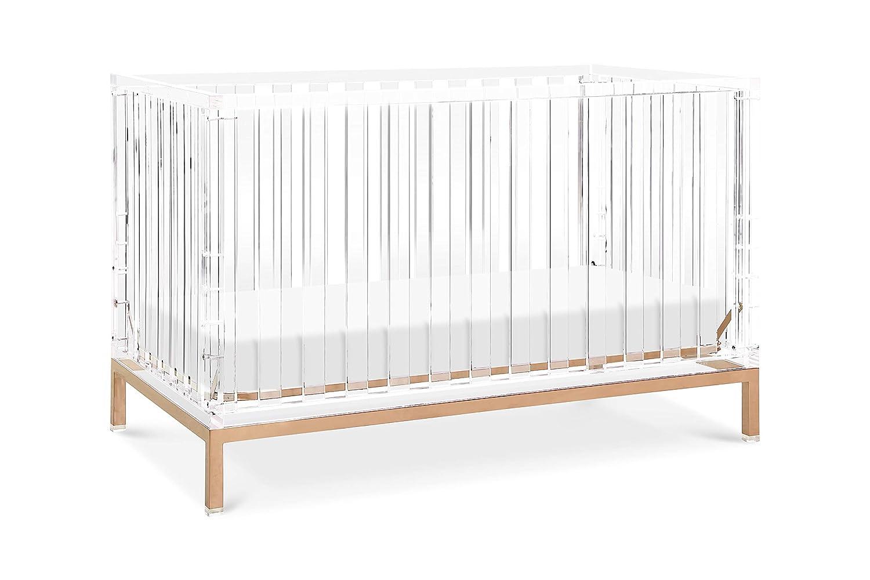 Nursery Works Luma Crib in Acrylic with Rose Gold