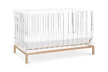 Amazon Com Nursery Works Luma Crib In Acrylic With Rose Gold Baby