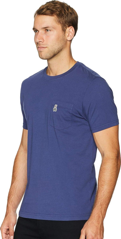 Psycho Bunny Men/'s Ultra Marine Blue Garment Dyed Crew Short Sleeve Pocket Shirt