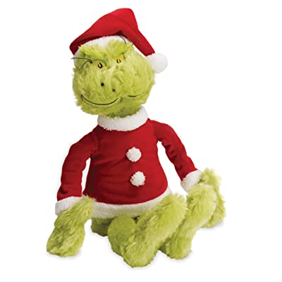 Manhattan Toy Dr. Seuss The Grinch in Santa Suit Soft Toy: Toys & Games