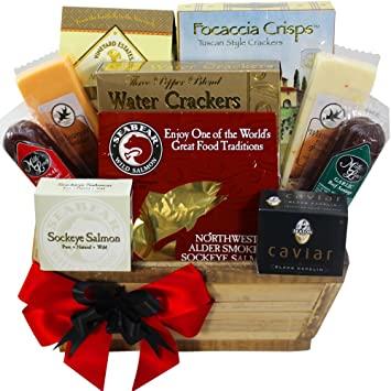 Amazon meat and cheese lovers gourmet food gift basket with meat and cheese lovers gourmet food gift basket with smoked salmon negle Choice Image