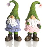 Delton 5.7 Inches Resin Standing Gnomes, Set Of 2