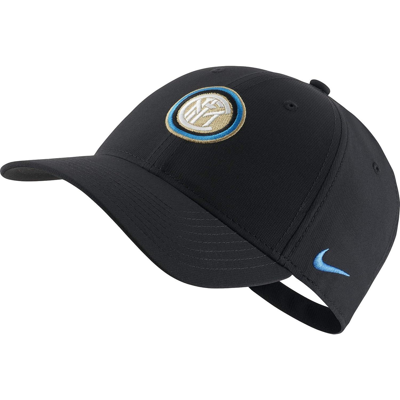 d2d6eb136 Amazon.com : Nike FC Inter Black Cap 2019-20 (Adult) : Sports & Outdoors
