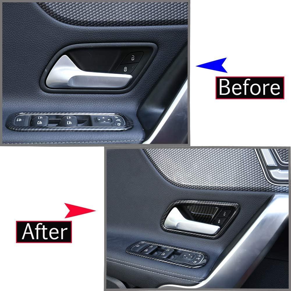 DIYUCAR Carbon Fiber Style ABS Car Interior Door Bowl Cover Trim For Benz A Class W177 A180 A200 2019 Accessories