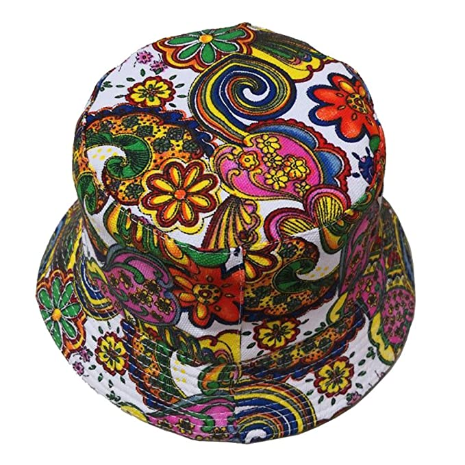 MSYOU Cotton Bucket Hat Creative Printing Summer Foldable Sun Hat Women Girls Outdoor Hats for Beach Fishing Shopping Travel Hiking
