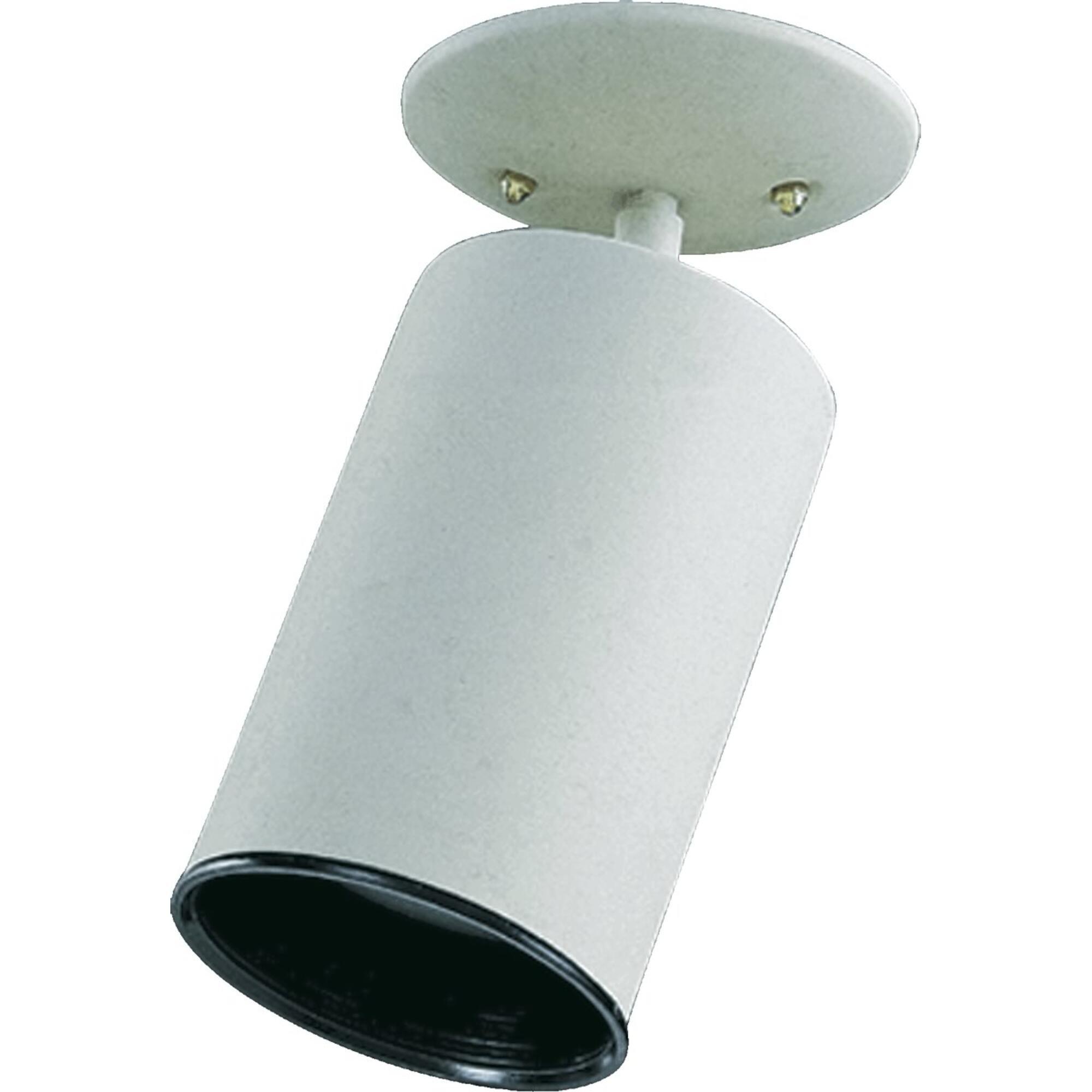 Spot Light Bulb Type: (1) 75W medium base bulb, Finish: White