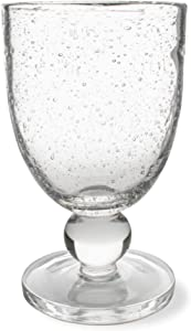 TAG Bubble Glass Goblet 10 oz Beverage Glassware for Dinner Party Wedding Bar Clear