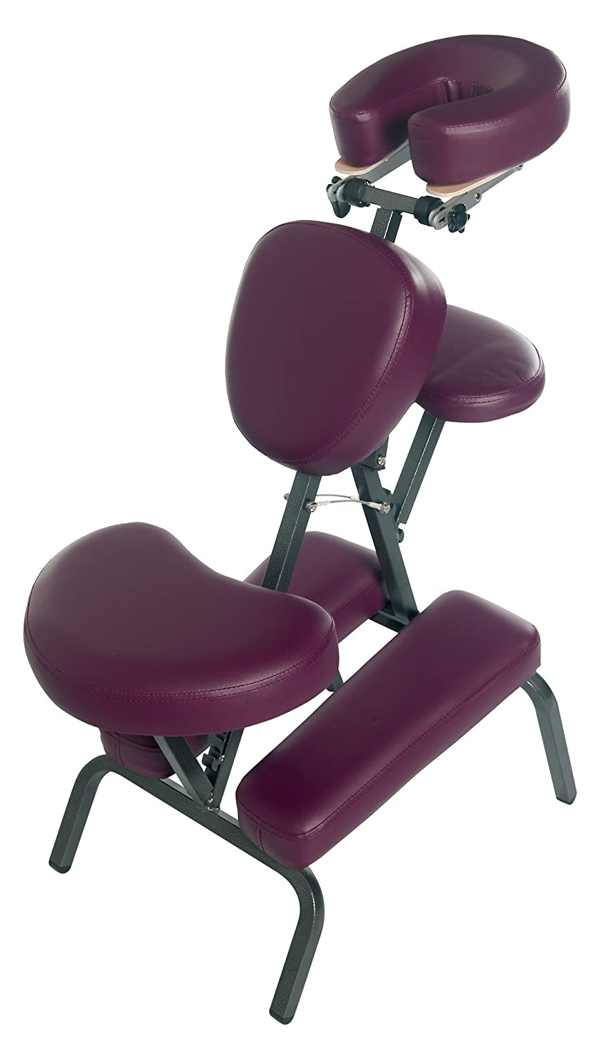 3B Scientific W60606BU-1 PVC Vinyl Pro Massage Chair, 500-Pound Capacity, Burgundy