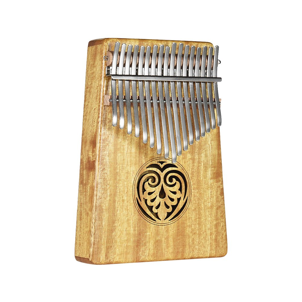 ammoon Kalimba Thumb Piano Kalimba Mbira Sanza 17 Keys Swartizia Spp Solid Wood with Carry Bag Music Book Musical Scale Stickers Tuning Hammer Musical Gift AKP-17H