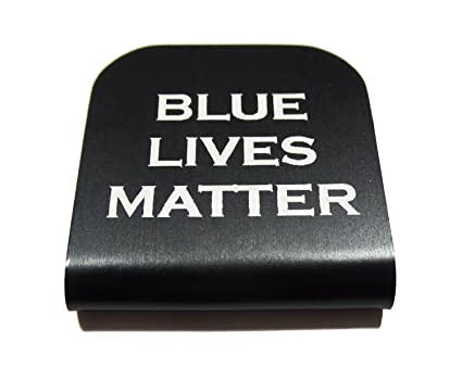 Police Blue Lives Matter Morale Tags Hat Clip for Tactical Patch Caps  (Black) bacf098f263