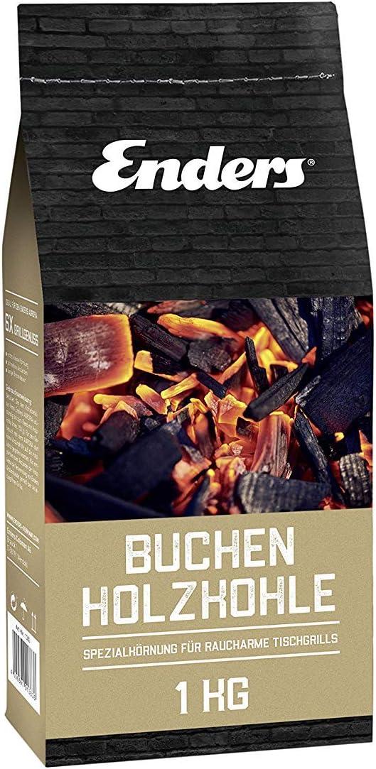 Enders haya Carbón Vegetal para Aurora–1383, sin Humo BBQ Grill, Madera de Haya Carbón para schenlles encender, 1kg