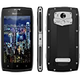 Blackview BV7000 PRO Rugged 4G Smartphone - IP68 Mobile Phones Unlocked 5.0 Inches FHD 4GB RAM + 64GB ROM 13MP&8MP Cameras Android 6.0 Waterproof / Shockproof / Dustproof MT6750T Octa-core 1.5GHz Dual SIM Dual Standby Bluetooth 4.0 Hotkont Fingerprint Sensor GPS-Silver