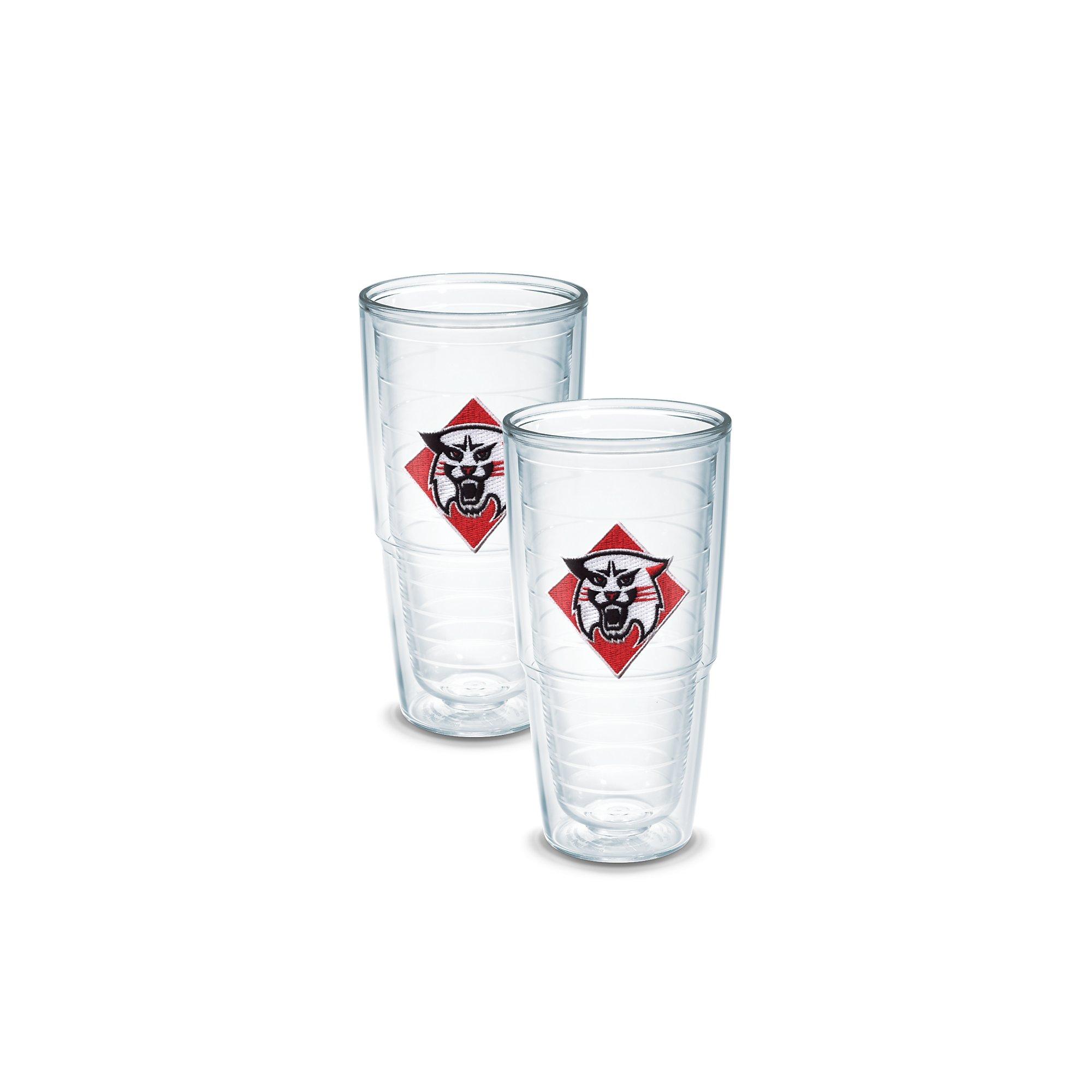 Tervis 1049913 Davidson College Emblem Tumbler, Set of 2, 24 oz, Clear