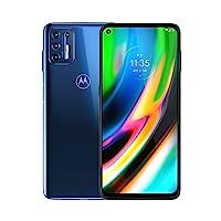 Motorola Moto G9 Plus | Unlocked | International GSM Only | 4/128GB | 64MP Camera | 2020 | Blue Indigo | NOT Compatible with Sprint or Verizon