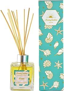 Morning Sunshine Home Fragrance Organic Reed Diffuser Set, Ocean Scent, 4 fl oz