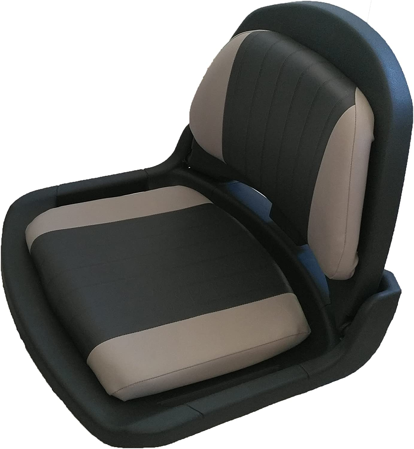 Clam Shell Fishing Seats Charcoal and Gray